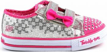 Pantofi Sport Copii SKECHERS SHUFFLES SWEET STEPS Grey Marimea 25 Incaltaminte copii