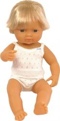 Papusa Baby european baiat Miniland 38 cm Papusi figurine si accesorii papusi