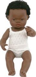 Papusa baiat african Miniland 38 cm Papusi figurine si accesorii papusi