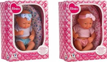 Papusa bebelus nou nascut Globo Bimbo 37350 in cosulet Papusi figurine si accesorii papusi