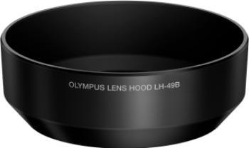 Parasolar Olympus LH-49B pentru M.ZUIKO DIGITAL 25mm 1 1.8 Black Accesorii Obiective