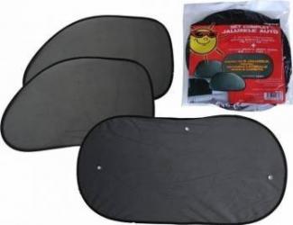 Parasolare luneta si geamuri laterale-spate RoGroup 3 buc/set negru Huse si Accesorii