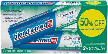 Pasta de dinti Blend-a-Med 3D White fresh extreme mint kiss 2*100ml Accesorii ingrijire dentara