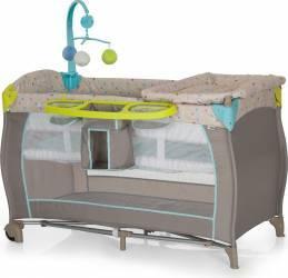 Pat Voiaj Babycenter Multi Dots Sand Patut bebe,tarcuri si saltele