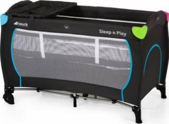 Pat Voiaj Sleepn Play Center - Multicolor Black Patut bebe,tarcuri si saltele