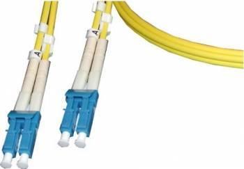 Patch cord fibra Duplex SC Duplex SC Multimode OM3 2m LSZH Aqua LANmark Cabluri Retea