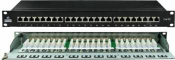 Patch panel Linkbasic FTP 24-port Cat.5e Accesorii retea