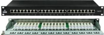 Patch panel Linkbasic FTP 24-port Cat.5e Accesorii retea