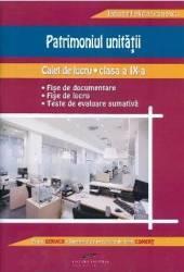 Patrimoniul unitatii - Clasa a 9-a - Caiet de lucru - Tatiana Felicia Stanescu title=Patrimoniul unitatii - Clasa a 9-a - Caiet de lucru - Tatiana Felicia Stanescu