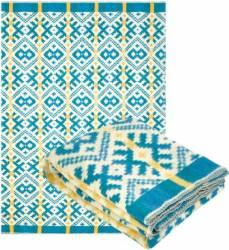Patura Amestec Lana Yaroslav, 140x205 cm, (design 2.2) Traditional Albastru Cuverturi & Paturi