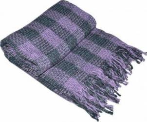 Patura amestec lana Yaroslav Tile, 130x170 cm, Violet Cuverturi & Paturi