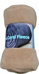 Patura Home Still Coral Fleece 190X220 CM Crem Cuverturi & Paturi