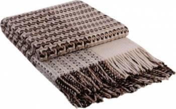 Patura lana Cappuccino 140 x 200 cm Maro