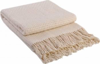 Patura lana Rogojka 140 x 200 cm Crem