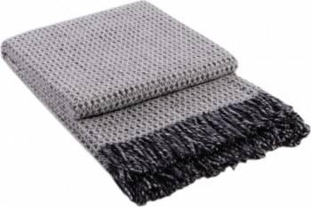 Patura lana Vladi Dolce Vita, 170 x 210 cm, 70% Lana Merinos, Gri Cuverturi & Paturi
