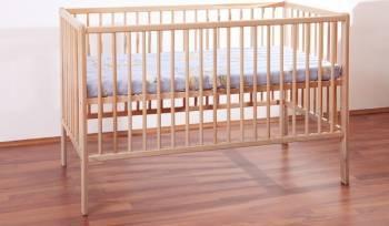 Patut Copii Lemn Fara Sertar MYKIDS TIKO Natur 3600 Patut bebe,tarcuri si saltele