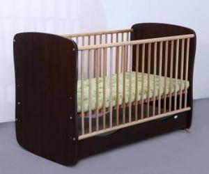 Patut Copii Lemn Sertar MYKIDS SERENA Cu Leganare Wenge 3614 Patut bebe,tarcuri si saltele