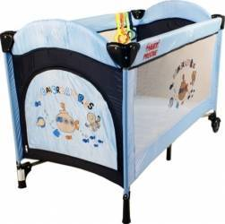 Patut pliabil ARTI BasicGo - AlbastruBleumarin Patut bebe,tarcuri si saltele