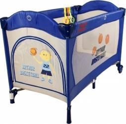 Patut pliabil ARTI BasicGo - AlbastruGri Patut bebe,tarcuri si saltele