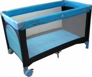 Patut pliabil EURObaby QX-805 - Albastru Patut bebe,tarcuri si saltele