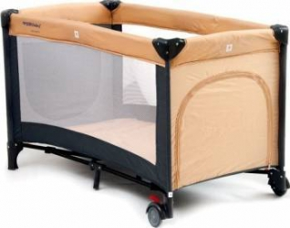 Patut pliabil EURObaby QX-805 - Bej Patut bebe,tarcuri si saltele