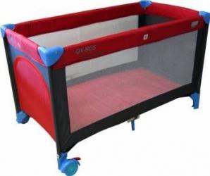 Patut pliabil EURObaby QX-805 - Rosu Patut bebe,tarcuri si saltele