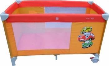 Patut pliabil EURObaby QX-805 LITTLE CARS Patut bebe,tarcuri si saltele
