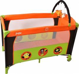 Patut Pliant 2 Nivele Juju Sleepy Baby Verde-portocaliu