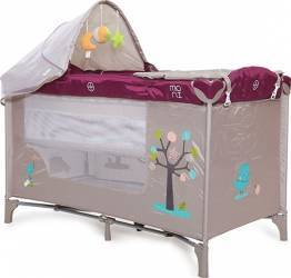 Patut pliant copii Moni Friend Purple Patut bebe,tarcuri si saltele