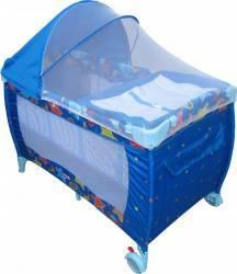 Patut Primii Pasi P106 cu 2 nivele Albastru Patut bebe,tarcuri si saltele