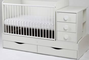 Patut Transformabil MYKIDS Silence Alb Cu Leg 3604 Patut bebe,tarcuri si saltele