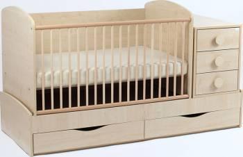 Patut Transformabil MYKIDS Silence Cu Leg Natur 3603 Patut bebe,tarcuri si saltele