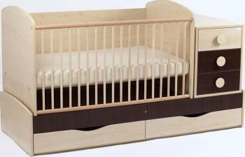 Patut Transformabil MYKIDS Silence Cu Leg Wenge 4057 Patut bebe,tarcuri si saltele