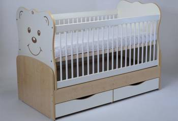 Patut Transformabil MYKIDS Teddy Natur-Alb Cu Leg 3609 Patut bebe,tarcuri si saltele