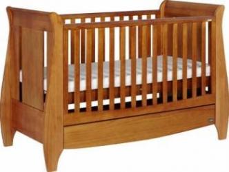 Patut Tutti Bambini 3 in 1 Lucas Oak Patut bebe,tarcuri si saltele