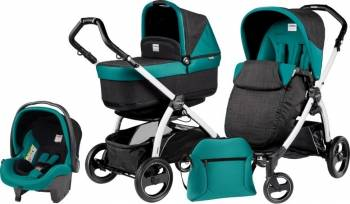 Peg Perego - Carucior 3 In1 Book Plus S Black And White Pop-up