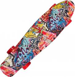Penny Board Action Xpload II ABEC-7, PU, Aluminium, 100 KG Graffiti Penny Board