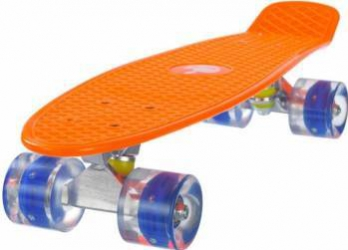 Penny Board Mad Abec-7 Roti Luminoase Orange 57 Cm