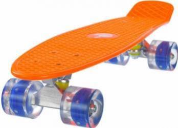 Penny board Mad Abec-7 roti luminoase Orange 57 cm Penny Board