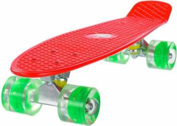 Penny Board Mad Abec-7 Roti Luminoase Red 57 Cm