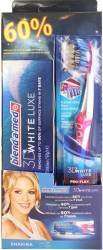Periuta de dinti Oral B Proflex 3D White Luxe 40 medium + Blend-a-Med 3D White Luxe 75ml