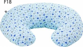 Perna de Alaptare Fiziologica Husa Bumbac 72 cm Bleu Fiki Miki Accesorii alaptare