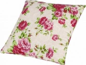 Perna decorativa 40x40 cm  - Flori Roz