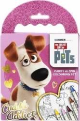 Pets Set Portabil de colorat Carti