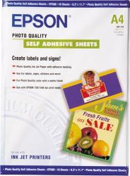 Photo Quality Ink Jet Paper self-adhesive Epson DIN A4 10 Blatt Hartie