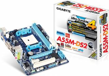 Placa de baza Gigabyte A55M-DS2 Socket FM1 Refurbished