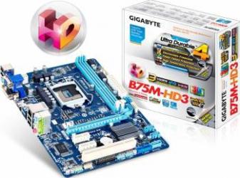 Placa de baza Gigabyte B75M-HD3 Socket 1155 Refurbished