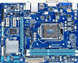 Placa de baza Gigabyte GA-H61M-DS2 DVI Socket 1155 Refurbished