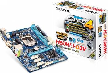 Placa de baza Gigabyte H61MA-D3V Socket 1155 Refurbished 2