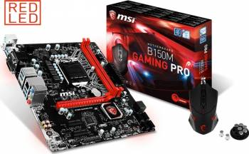 Placa de baza MSI Socket LGA1151 B150M Gaming Pro + Mouse MSI DS B1